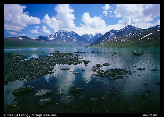 Telaquana Mountains and Turquoise Lake. Lake Clark National Park (color)