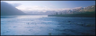 Misty lake. Lake Clark National Park (Panoramic color)