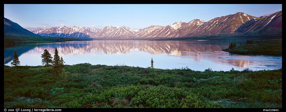 Calm evening at Twin Lakes. Lake Clark National Park (color)