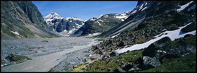 Wild river valley. Lake Clark National Park (Panoramic color)