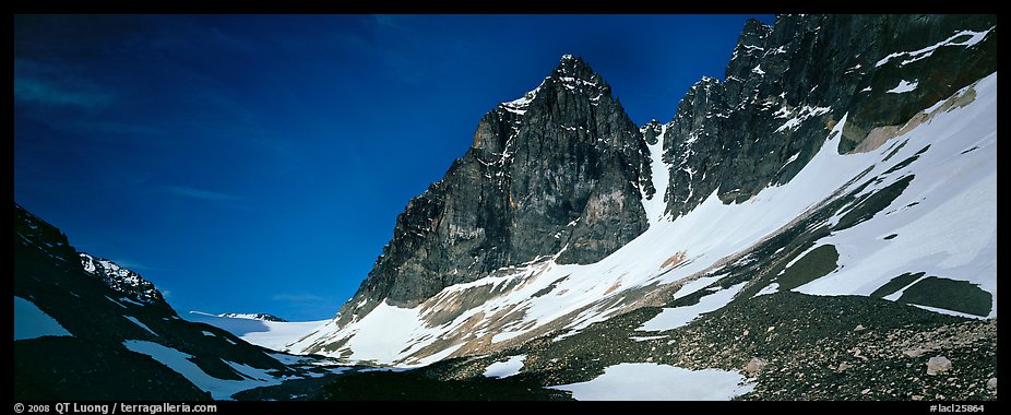 Rocky peaks with early summer snow. Lake Clark National Park (color)