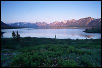 Twin Lakes, sunset. Lake Clark National Park, Alaska, USA.