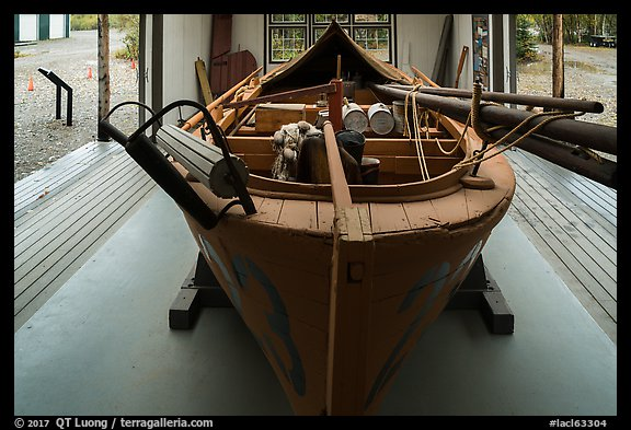 Alaska >> Picture/Photo: Historic double-ender fishing boat from Bristol Bay. Lake Clark National Park