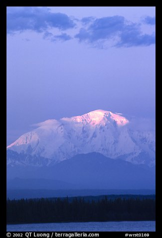 Last light on the summit of Mt Blackburn. Wrangell-St Elias National Park (color)