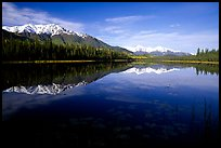 Crystalline Hills and Crystal Lake. Wrangell-St Elias National Park, Alaska, USA.