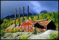 Kennicott historic copper mining buildings. Wrangell-St Elias National Park, Alaska, USA. (color)