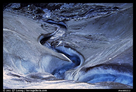 Stream on Root glacier. Wrangell-St Elias National Park, Alaska, USA.