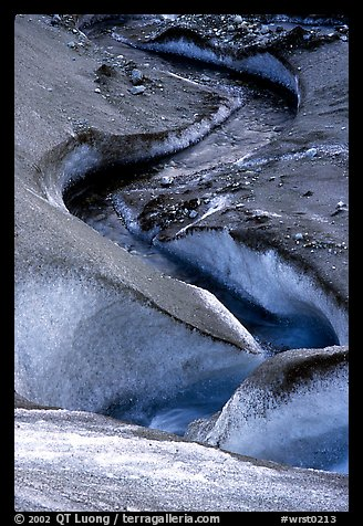 Glacial stream on Root glacier. Wrangell-St Elias National Park (color)