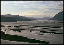 Wide Copper and Chitina rivers. Wrangell-St Elias National Park ( color)