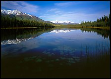 Crystalline Hills and Crystal Lake. Wrangell-St Elias National Park ( color)