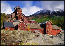 Kennicott historic copper mine. Wrangell-St Elias National Park, Alaska, USA. (color)