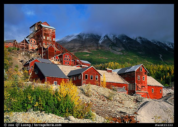 Kennecott abandonned mining buildings. Wrangell-St Elias National Park (color)