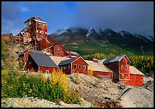 Kennecott abandonned mining buildings. Wrangell-St Elias National Park, Alaska, USA. (color)