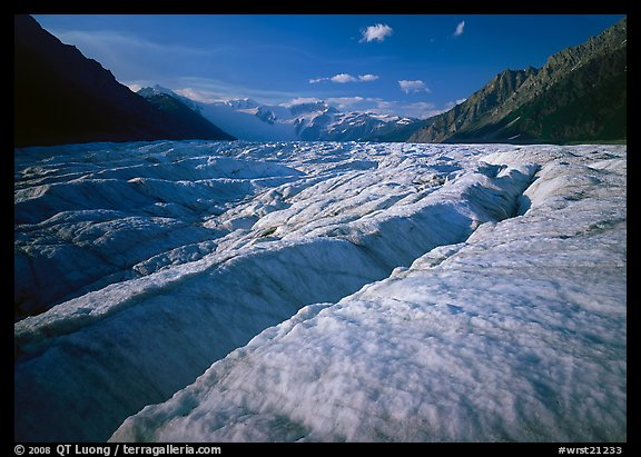 Crevasses and Root Glacier, afternoon. Wrangell-St Elias National Park (color)