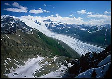 Root Glacier seen from Mt Donoho. Wrangell-St Elias National Park, Alaska, USA.