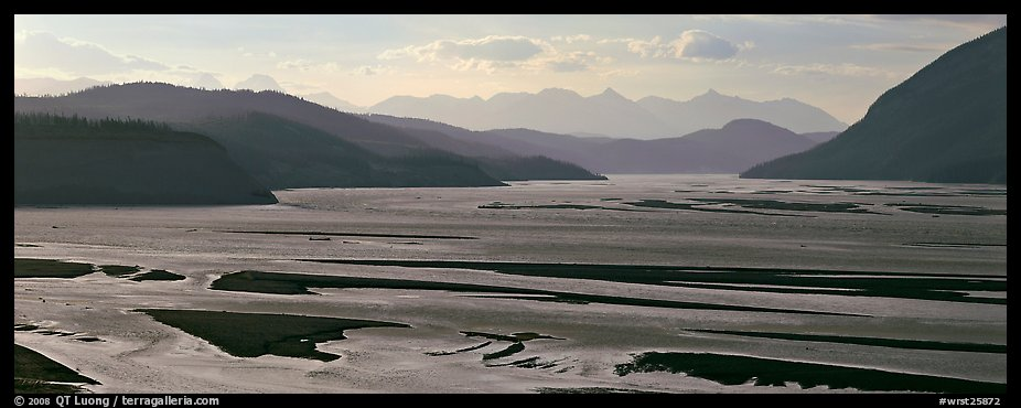 Riverbed of huge size with sand bars. Wrangell-St Elias National Park (color)