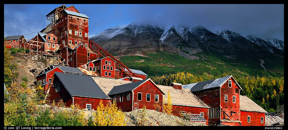 Historic Copper mill, Kennicott. Wrangell-St Elias National Park (color)
