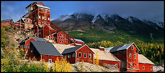 Historic Copper mill, Kennicott. Wrangell-St Elias National Park (Panoramic color)
