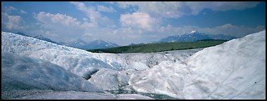 Glacier landscape. Wrangell-St Elias National Park (Panoramic color)