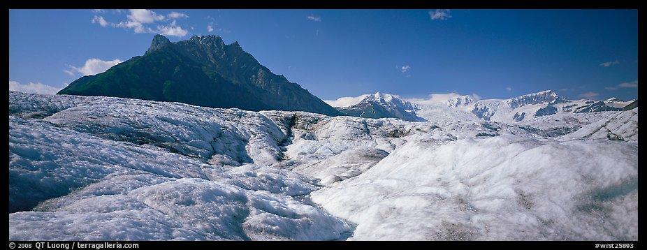 Glacier and peak. Wrangell-St Elias National Park (color)