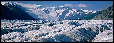 Mountain glacier scenery. Wrangell-St Elias National Park (Panoramic color)