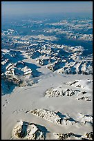 Aerial view of glaciers and mountains, St Elias range. Wrangell-St Elias National Park ( color)
