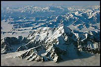 Aerial view of Mt St Elias and Mt Logan. Wrangell-St Elias National Park ( color)