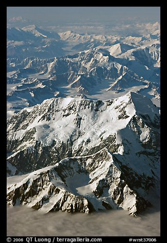 Aerial view of Mount St Elias and Mount Logan. Wrangell-St Elias National Park (color)