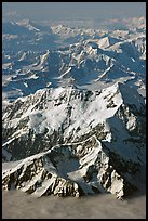 Aerial view of Mount St Elias and Mount Logan. Wrangell-St Elias National Park, Alaska, USA. (color)
