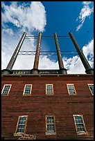 Kennecott power plant and smokestacks. Wrangell-St Elias National Park, Alaska, USA. (color)