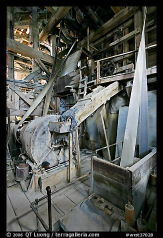 Grinder inside the Kennecott mill plant. Wrangell-St Elias National Park, Alaska, USA.