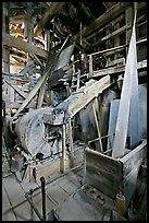 Grinder inside the Kennecott mill plant. Wrangell-St Elias National Park ( color)