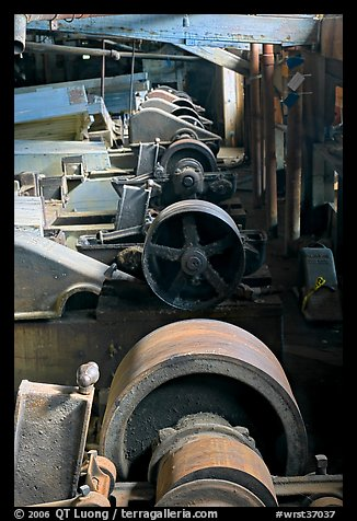 Machinery in the Kennecott concentration plant. Wrangell-St Elias National Park (color)