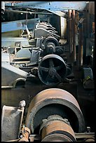 Machinery in the Kennecott concentration plant. Wrangell-St Elias National Park ( color)