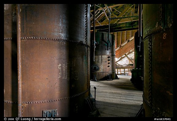 Tanks for Ammonium leeching Kennecott smelting plant. Wrangell-St Elias National Park (color)