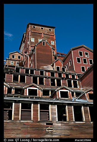 Historic Kennecott copper mill. Wrangell-St Elias National Park (color)
