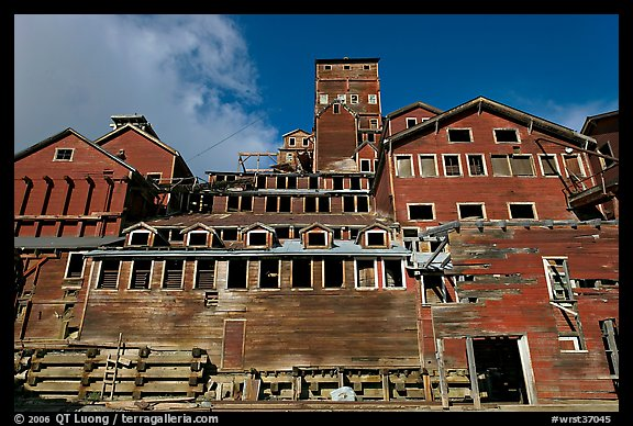 Kennecott concentration and smelting plant. Wrangell-St Elias National Park (color)