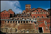 Kennecott concentration and smelting plant. Wrangell-St Elias National Park, Alaska, USA. (color)