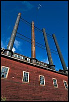 Historic Kennecott power plant. Wrangell-St Elias National Park, Alaska, USA. (color)