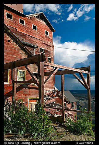 Kennecott Mill, late afternoon. Wrangell-St Elias National Park (color)