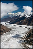 Aerial view of Barnard Glacier. Wrangell-St Elias National Park ( color)