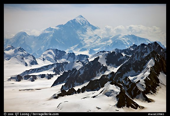 Aerial view of Mount St Elias. Wrangell-St Elias National Park (color)