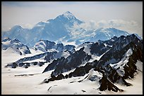 Aerial view of Mount St Elias. Wrangell-St Elias National Park, Alaska, USA.