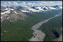 Aerial view of Granite Creek. Wrangell-St Elias National Park ( color)