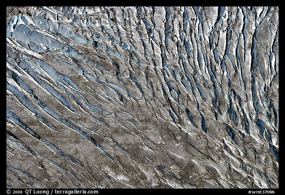 Aerial view of crevasses. Wrangell-St Elias National Park (color)
