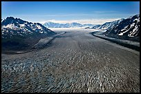 Aerial view of Tana Glacier. Wrangell-St Elias National Park, Alaska, USA.