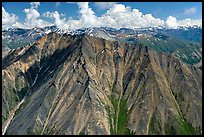 Aerial view of Bonzanza Ridge. Wrangell-St Elias National Park ( color)