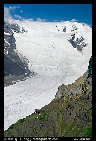 Aerial view of Erie Mine and Root Glacier. Wrangell-St Elias National Park (color)