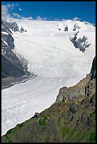 Aerial view of Erie Mine and Root Glacier. Wrangell-St Elias National Park, Alaska, USA. (color)