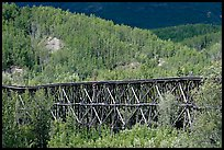 Gilahina trestle and hills. Wrangell-St Elias National Park, Alaska, USA. (color)